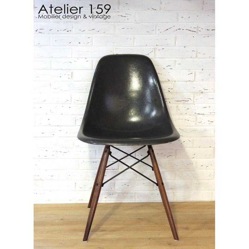 DSW Chaise Eames Originale Et Vintage Black Noir Herman Miller Loading Zoom