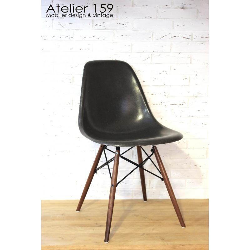 DSW Chaise Eames Originale Et Vintage Black Noir Herman Miller