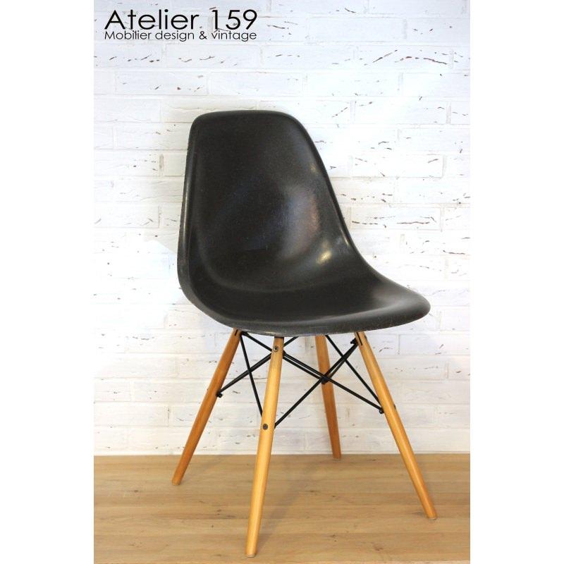 Superieur DSW Chaise Eames Originale Et Vintage Black Noir Herman Miller