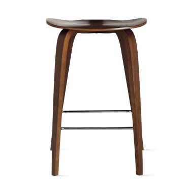"Tabouret ""Under Counter Stool"" Norman Cherner (Noyer classique / Classic Walnut) - Cherner Chair"