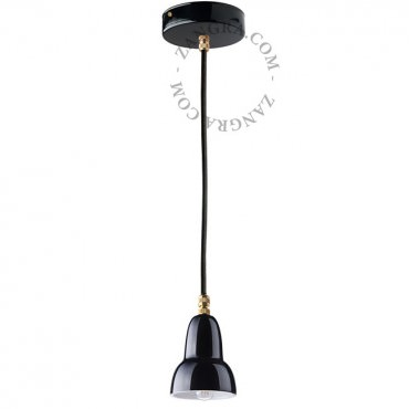 Suspension en porcelaine noire - Zangra