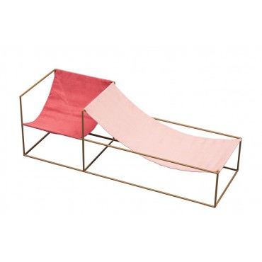 Fauteuil duo seat Red Pink - Valerie Objects