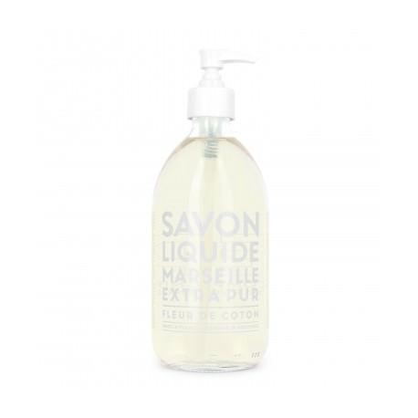 Savon liquide de Marseille 500ml - Fleur de coton - Compagnie de Provence