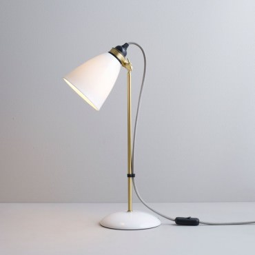 Lampe de table HECTOR 30 - LAITON SATINÉ ET CÂBLE GRIS- Original BTC