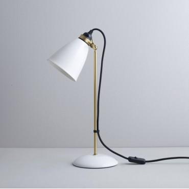 Lampe de table HECTOR 30 - LAITON SATINÉ ET CÂBLE NOIR- Original BTC