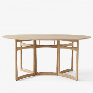 "Table pliante ""DROP LEAF"" HM6 en chêne - And Tradition"