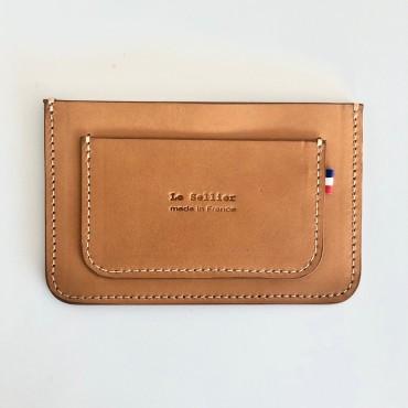 Porte-cartes CNI gold - Le Sellier
