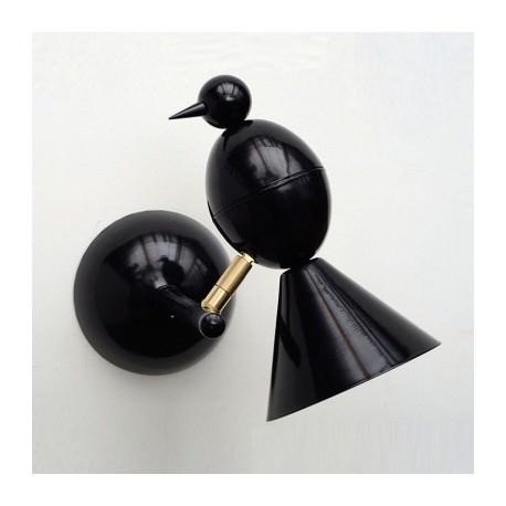 Applique ALOUETTE noir intérieur blanc - Atelier Areti