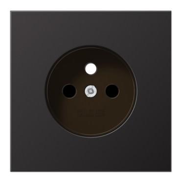 Enjoliveur prise 2P+T aluminium dark LS 990 / AL 1521 FKI DPL-1  - JUNG
