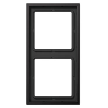 Plaque double aluminium dark LS990 - AL2982D - JUNG
