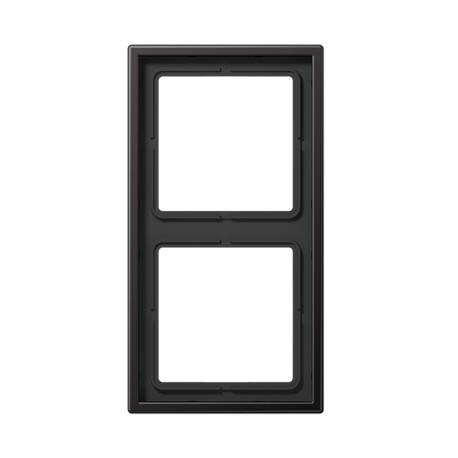 Plaque double aluminium dark LS990 - AL2982D - JUNG