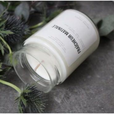 """Bougie parfumée """"Fraicheur matinale"""" Verre 500g - Candlebox"""