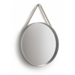 MIROIR STRAP SILICONE GRIS BY HAY 50CM