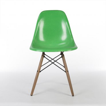 DSW Chaise Eames originale et vintage Kelly Green Herman Miller
