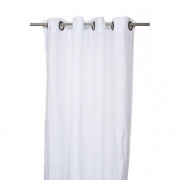 Rideaux VITI II en lin blanc 140*280 cm - Harmony