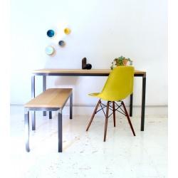 Table métal / chêne 22mm (a) - BAAZIC