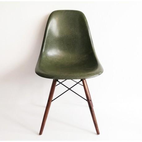 DSW Chaise Eames originale et vintage Dark Olive Herman Miller