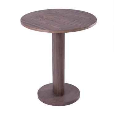 Table ronde pied central GALTA en Noyer - Kann Design