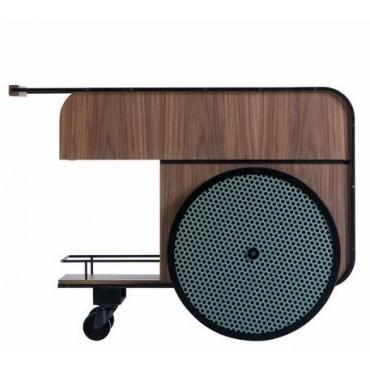 Chariot Bar TRINK en noyer - Kann Design
