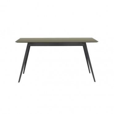 Table Aise plateau rectangulaire pieds métal / Plateau Fénix - TREKU