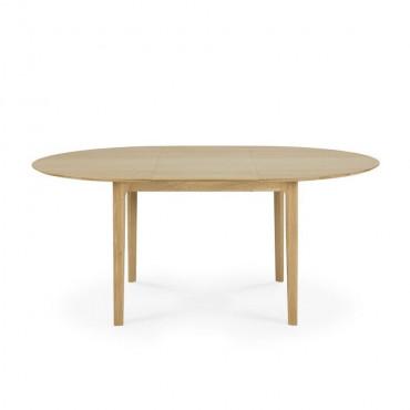 Table en chêne ronde à rallonge extensible BOK - Ethnicraft