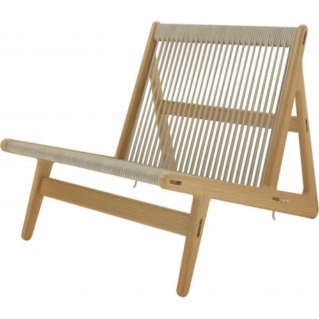 Fauteuil MR01 Initial Chair Chêne - Gubi