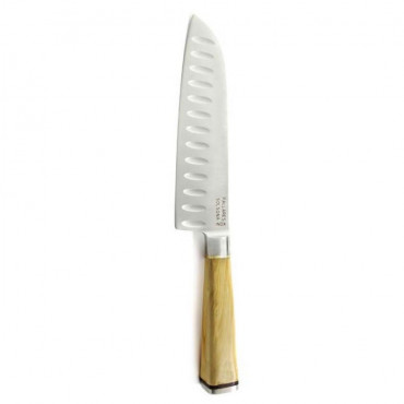 Couteau de cuisine SANTOKU buis / inox L.17 cm - Pallares Solsona