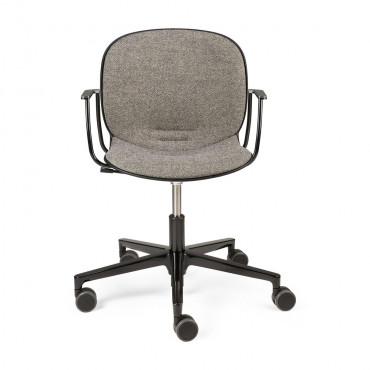 Chaise de bureau NOOR sans accoudoirs tissu noir - Ethnicraft