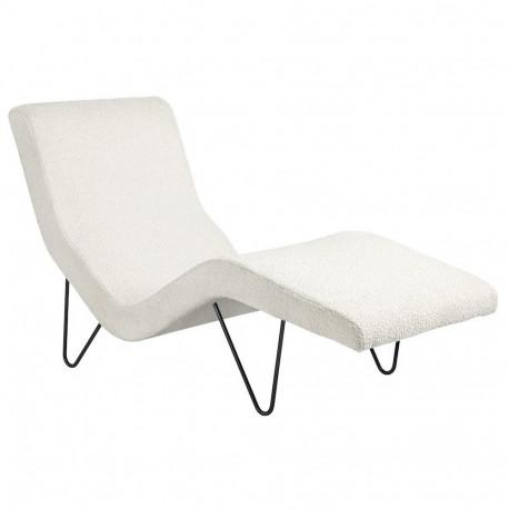 Chaise longue GMG pieds noir / Tissu Karakorum 001 - Gubi