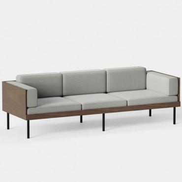 Canapé 3 places CUT L.230 cm ocre - Kann Design