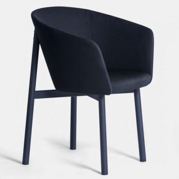 Fauteuil RESIDENCE BRIDGE Tissu Noir / Pieds noir - Kann Design