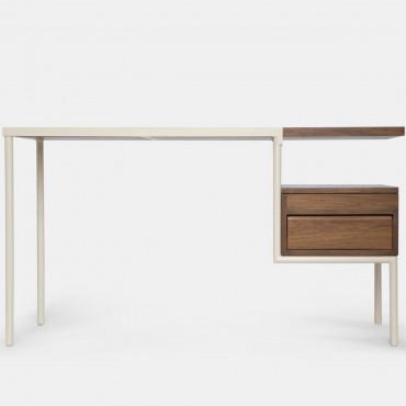 Bureau KTAB structure métal crème / teck - Kann Design