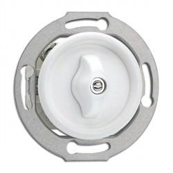 Interrupteur double rotatif Rotary en duroplast vendu sans son cache (encastrable) Ref. 186886 - THPG