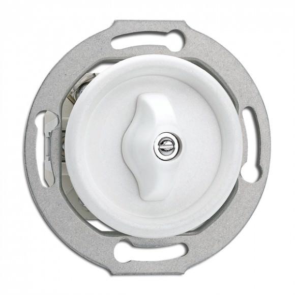 Interrupteur Rotary en duroplast rond vendu sans son cache (encastrable) - THPG