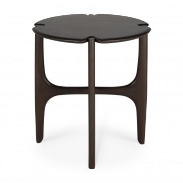 "Table d'appoint ""Polished Imperfect"" Ø47 cm en acajou - Ethnicraft"