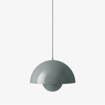 Suspension FlowerPot VP7 Matt Light Grey pendant lamp by Verner Panton