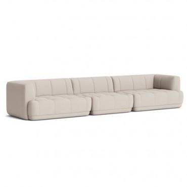 Canapé modulable QUILTON L.420 cm Tissu Remix 123 (combinaison 23) - Hay