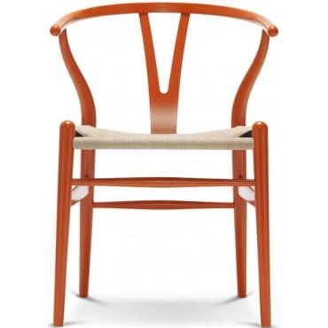"""Chaise CH24 """"Wishbone chair"""" hêtre teinté (Plusieurs coloris disponibles) - Hans Wegner - Carl Hansen"""