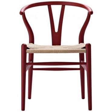 """Chaise CH24 """"Wishbone chair"""" hêtre teinté soft (Plusieurs coloris disponibles) - Hans Wegner - Carl Hansen"""