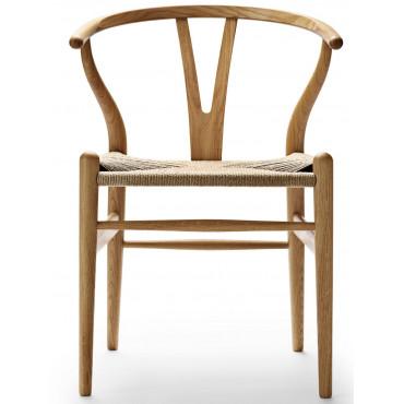 "Chaise CH24 ""Wishbone chair"" en bois naturel (Plusieurs finitions disponibles) - Hans Wegner - Carl Hansen & Son"