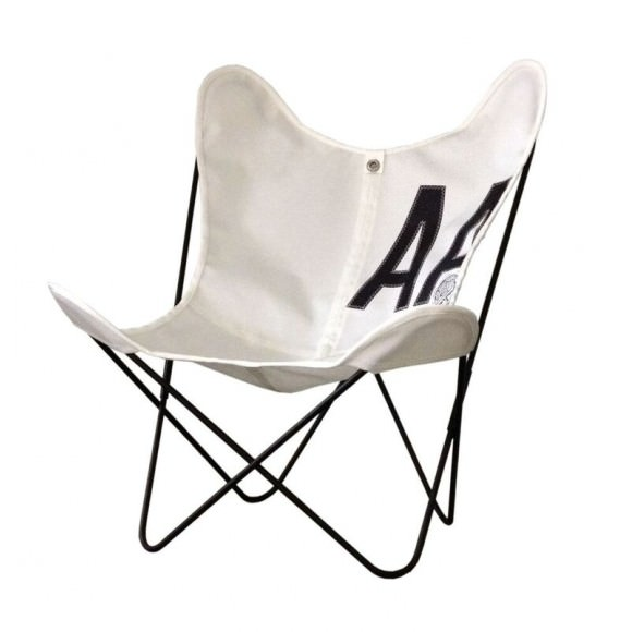 Fauteuil indoor / outdoor AA Butterfly Coton / Structure noire - AIRBORNE
