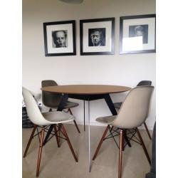 Table Aise ronde ∅110cm (pieds métal ou bois) - TREKU