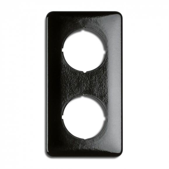 Cache double carré en bakelite (encastrable) - THPG