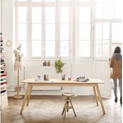 Table Aise plateau rectangulaire pieds bois - TREKU
