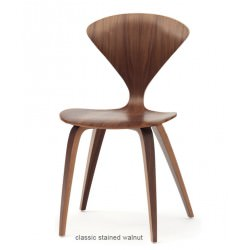 "Chaise ""Side Chair"" Norman Cherner (Noyer / Classic Walnut) - Cherner Chair"