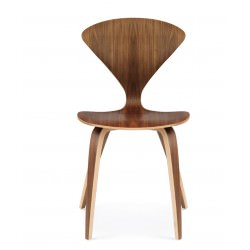 "Chaise ""Side Chair"" Norman Cherner (Noyer / Natural Walnut) - Cherner Chair"