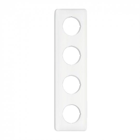 Cache quadruple carré en duroplast (encastrable) - THPG