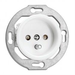 Prise en duroplast ronde vendue sans son cache (encastrable) - THPG