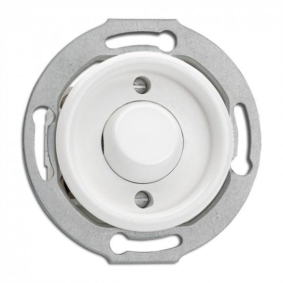 Bouton poussoir sans symbole en duroplast vendu sans son cache (encastrable) - THPG