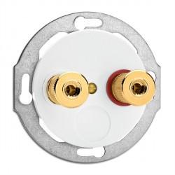 Prise Hauts-Parleurs en duroplast vendue sans son cache (encastrable) Ref. 100740 - THPG